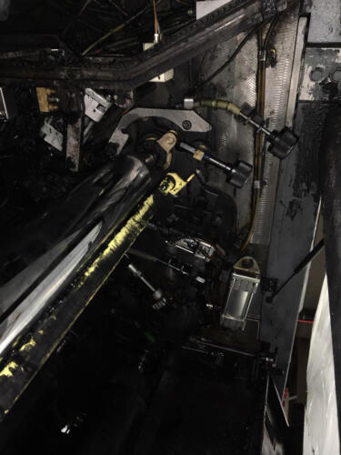 Commercial printing press CO2 basting - before