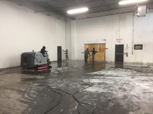 Industrial space cleaning - starting