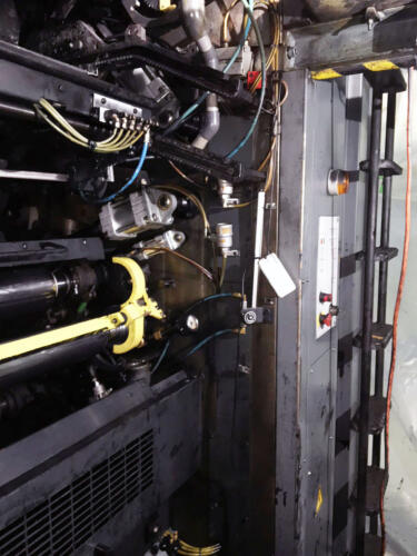 Commercial printing press after CO2 (dry ice) blasting - after