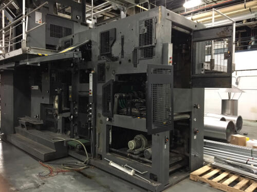 Commercial printing press - cleaning
