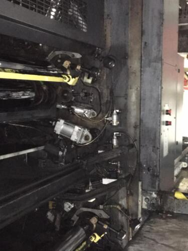Commercial printing press after CO2 blasting - after