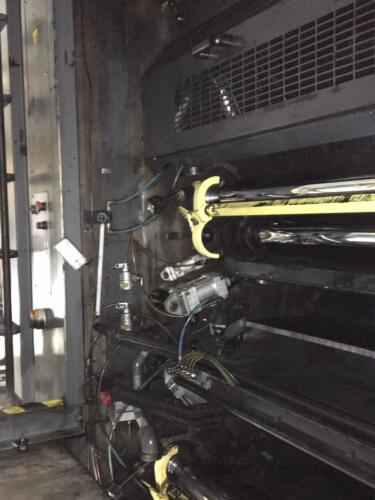 Commercial printing press afterCO2 blasting - after