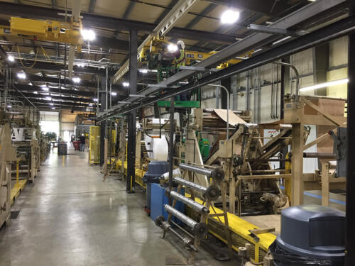 Industrial machine cleaning