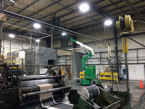 Industrial overhead cleaning
