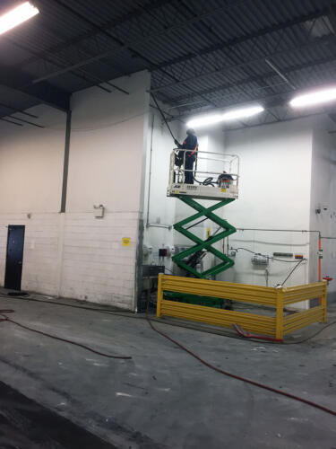 Industrial plant cleaning